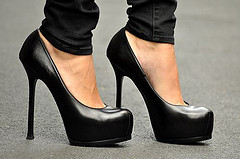 Front elevated heels