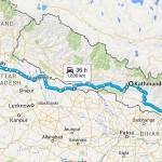 India Nepal Bhutan Route