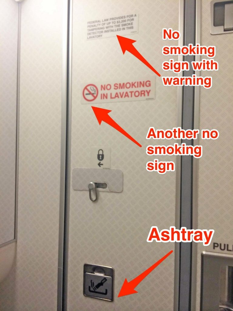 Ashtrays In Airplanes