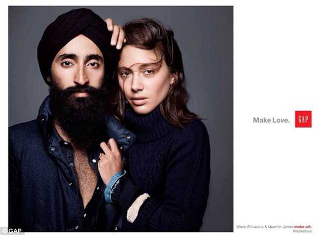Original GAP's 'Make Love' campaign features Ahluwalia alongside filmmaker and model Quentin Jones.